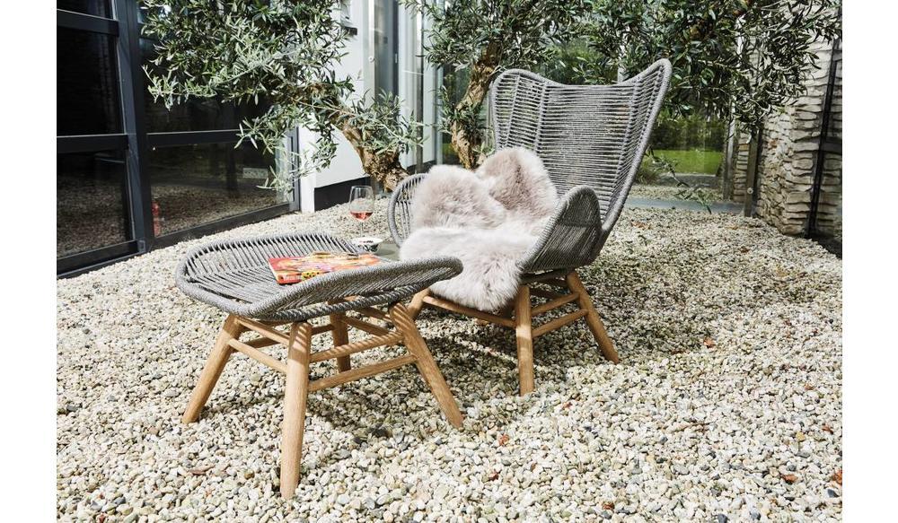 Loungestoel Kreta met hocker | Rope