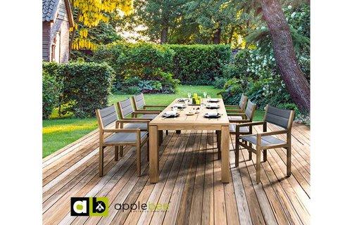 AppleBee tuinmeubelen Tuinset Oxford 240 cm | Del Mar dining stoel