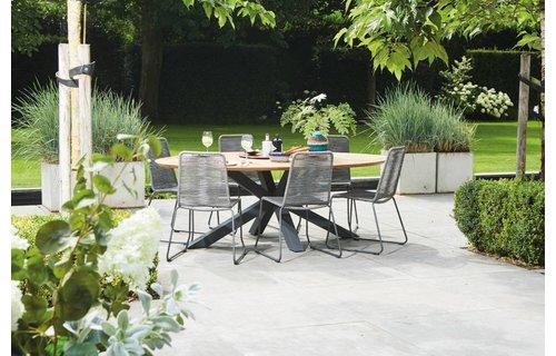 SUNS tuinmeubelen Tuinset Madre 220 cm | Elos tuinstoel