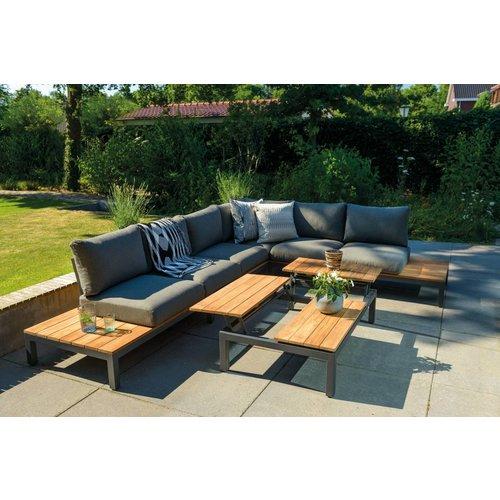 SUNS tuinmeubelen Loungeset Memphis | 2 x 2 zits + hoek | Salon tafel
