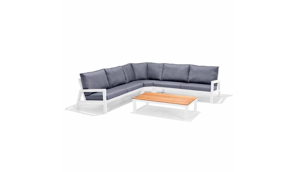 Hoek loungeset Lago   Aluminium wit
