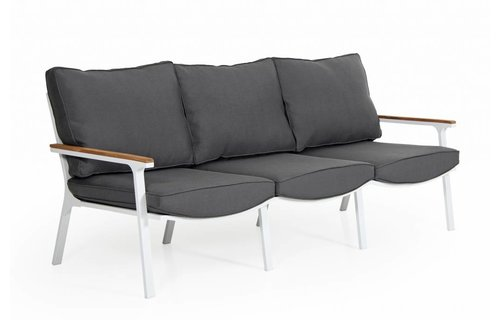 Brafab Loungebank Olivet | 3-zits | Wit/grijs