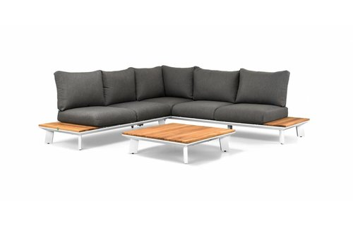 SUNS tuinmeubelen Loungeset Denver | Wit | Set 1