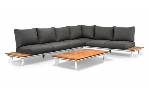 SUNS tuinmeubelen Loungeset Denver | Wit | Set 2