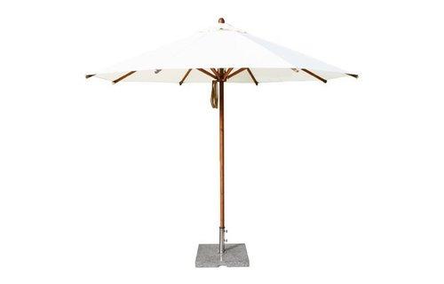 Bambrella Parasol Levante | 3 meter ⌀ | Ice White | Spuncrylic