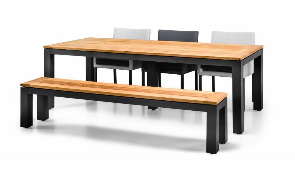 Tuinset Sense | 240 x 100 cm | Mat royal Grey | Antas dining chair