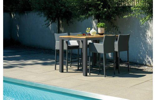 SUNS tuinmeubelen Barstoel Antas | zwart -grijs