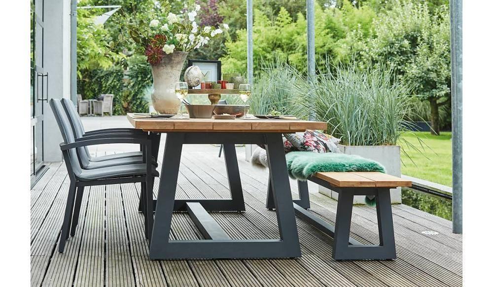 Tuinmeubel natuurstenen tuintafel single cm zwart gepolijst