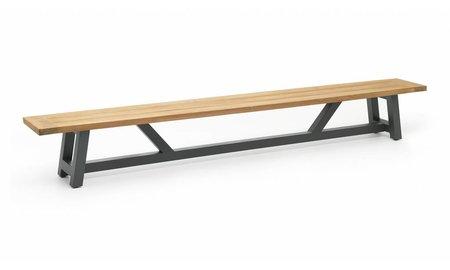 SUNS tuinmeubelen Tuinbank Bolano   330 cm   Mat royal grijs
