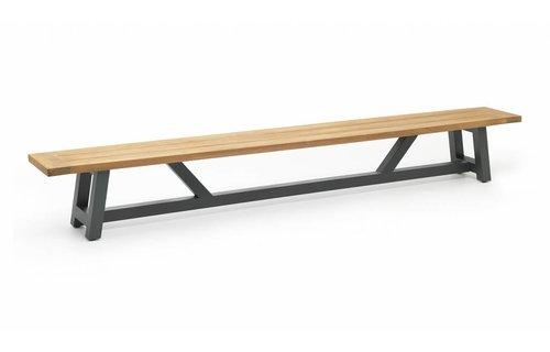 SUNS tuinmeubelen Tuinbank Bolano | 330 cm | Mat royal grijs