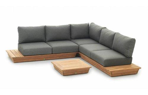 SUNS tuinmeubelen Loungeset Isla | 2 x 2 zits + corner | salontafel