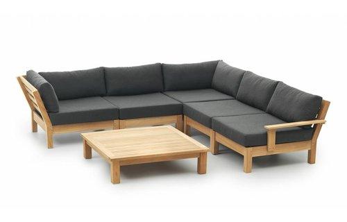 Garden Teak Loungeset Coffee Bay | Set 6