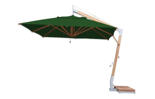 Bambrella Parasol Side Wind | Forest Green | 3.4 x 3.4 meter