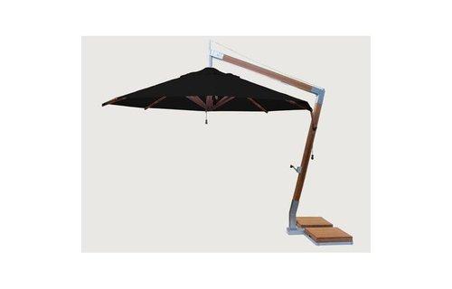 Bambrella Parasol Side Wind  Zwart  3.4 x 3.4 m