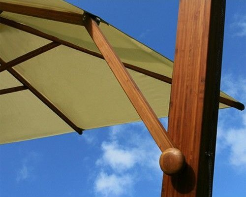 Parasol Side Wind   blauw   3x3m