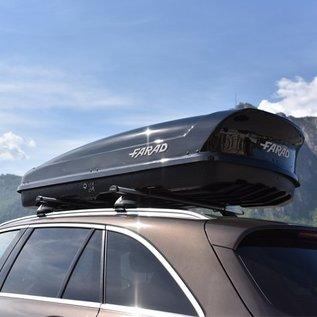 Farad Dachboxen Farad Dachbox Koral 480 Liter schwarz glänzend mit Schnellverschluß System