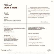 Calvin Bernard Rhone  |  I Believe