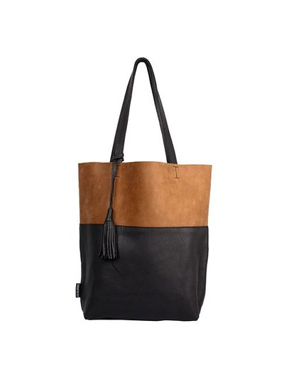 Caught by Eef Camel & Black Leather Shopper | Maya's Pure & Milk