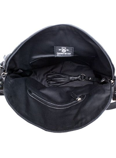 Caught by Eef Black Leather Shoulder bag | Jackie's Double Easy