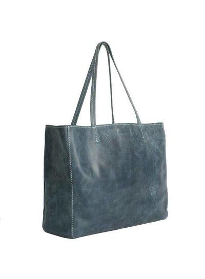 Caught by Eef Blue Leather Shopper   Grace's Fabulous XL