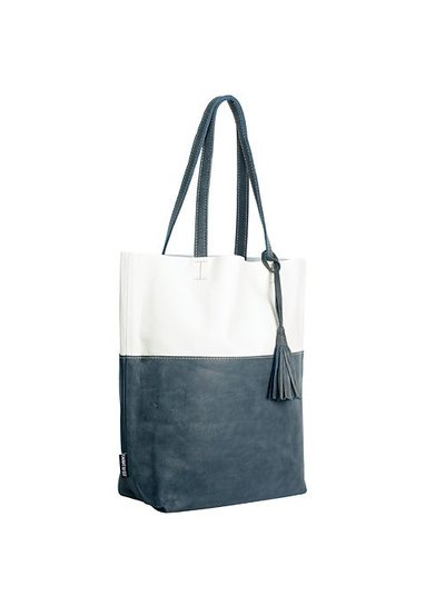 Caught by Eef Blue Leather Shopper | Grace's Ocean Wave