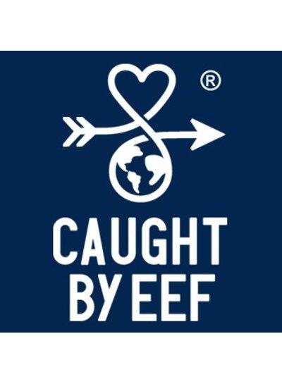 Caught by Eef Blauw Leren Sleutelhanger | Grace's Key Ring Ocean