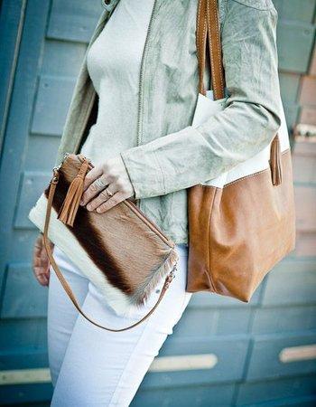 Leather Shopper Handbag