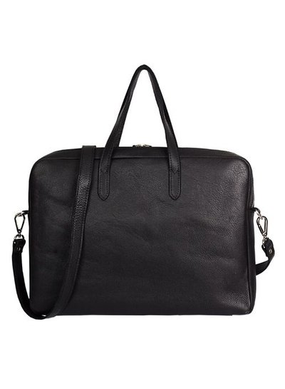 Caught by Eef Black Leather Business Bag | Ray's Briefcase