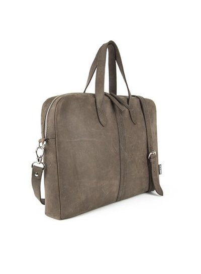Caught by Eef Brown Leather Business Bag | Ray's Briefcase