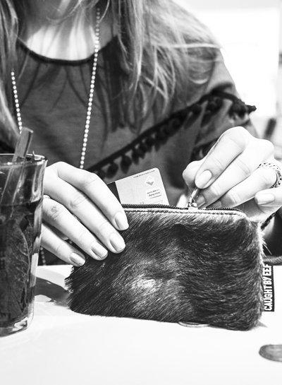 Caught by Eef Zwart Springbok Leren Mini Portemonnee | Jackie's Cards & Coins Fur