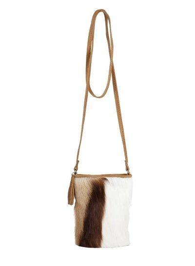 Caught by Eef Springbok leather Shoulder bag | Audrey's Petite Necessity