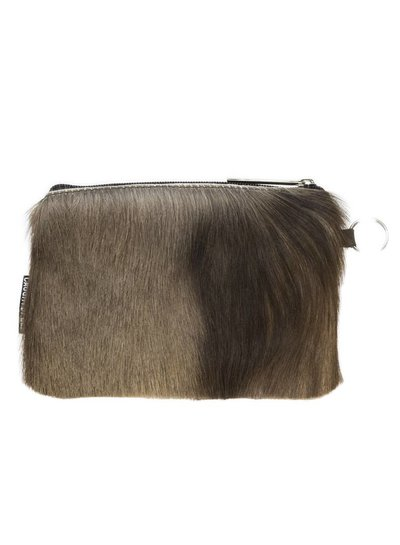 Caught by Eef Brown Fur Leather Purse | Claudia's Bag in Bag Springbok