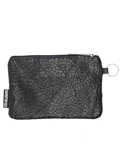 Caught by Eef Zwart Leren Portemonnee | Jackie's Bag in Bag Mudcrack