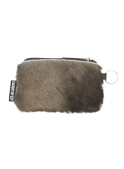 Caught by Eef Brown Springbok Leather Mini Purse | Claudia's Cards & Coins Fur