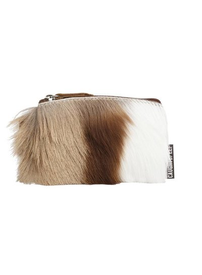 Caught by Eef Springbok Leather Mini Purse | Audrey's Cards & Coins Fur