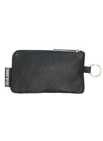 Caught by Eef Black Leather Mini Purse | Ray's Cards & Coins