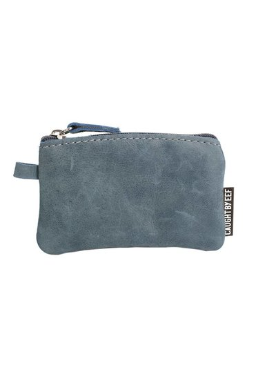 Caught by Eef Blue Leather Mini Purse   Grace's Cards & Coins