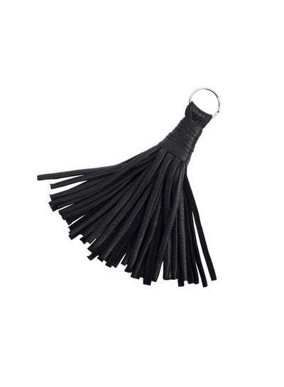 Caught by Eef Black Leather Key Ring | Jackie's Key Ring