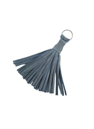 Caught by Eef Blue Leather Key Ring | Grace's Key Ring Ocean