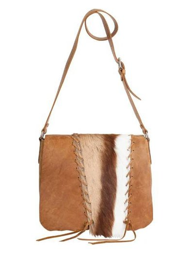 Caught by Eef Camel Leather Shoulder bag | Audrey's Cowgirl Springbok