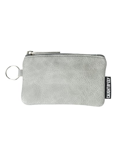 Caught by Eef Grey Leather Purse | Billie's Cards & Coins