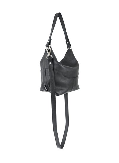 Caught by Eef Black soft Leather Handbag | Jackie's Agiato