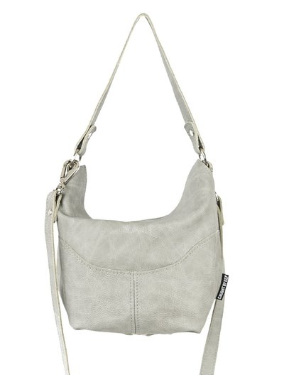 Caught by Eef Grey Leather Handbag | Billie's Agiato