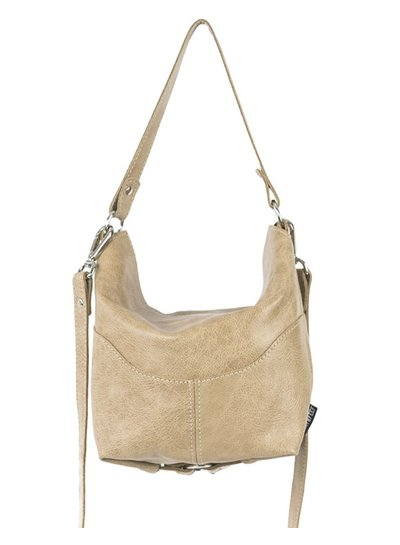 Caught by Eef Fudge Leather Handbag | Bena's Agiato