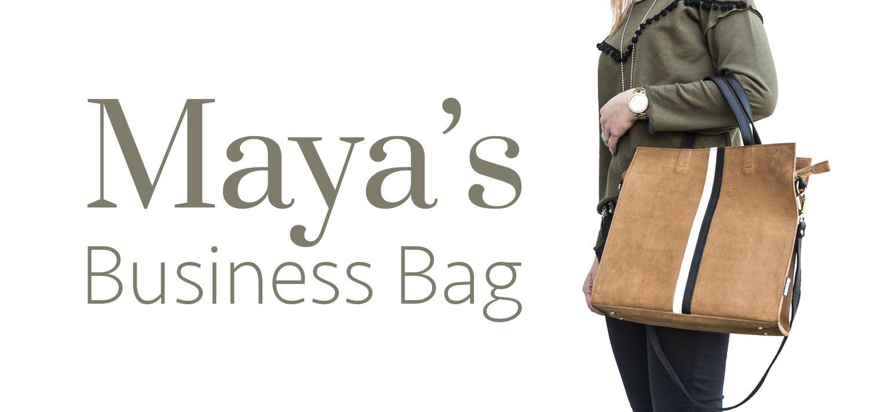Maya's Business Bag Black & White