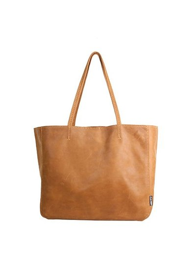Caught by Eef Camel Leather Shopper | Lena's Fabulous XL