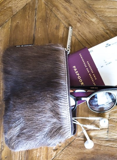 Caught by Eef Bruin Fur Leren Portemonnee | Claudia's Bag in Bag Springbok