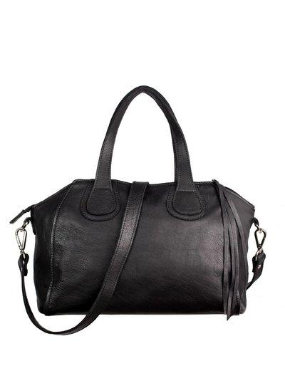 Caught by Eef Black Leather Handbag | Jackie's Happy 24/7