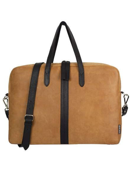 Caught by Eef Ray's Briefcase Camel & Black