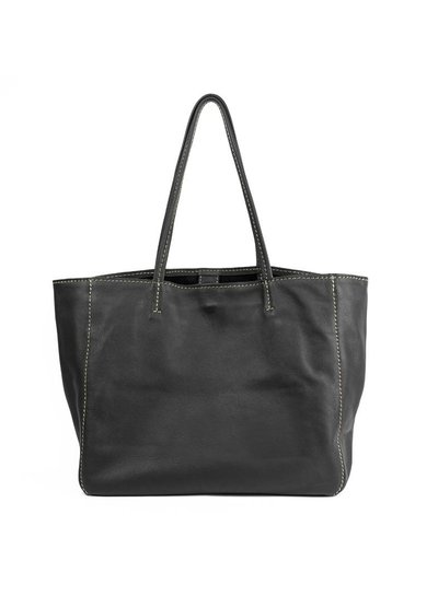 Caught by Eef Black Leather Shopper | Jackie's Fabulous XL